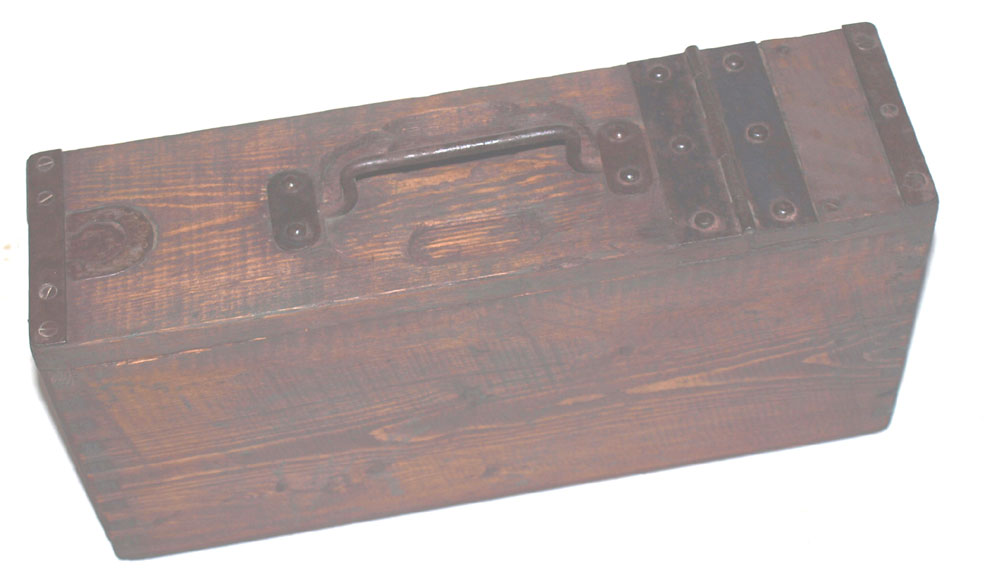 MG08 WW1 wooden ammo belt Box