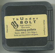 ThUnderBOLT .22 Calibre Pellet for Spring powered Air Weapons £9.95