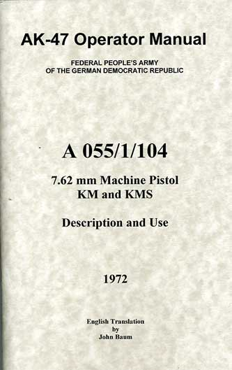 AK47 Operators Manual 1972