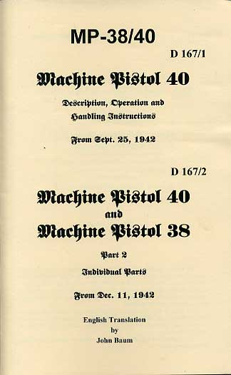 D167/1-2 MP38/MP40 Operators Manual