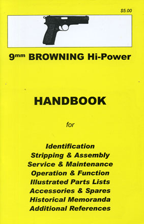 Skennerton Handbook for the Browning 9mm Hi-Power