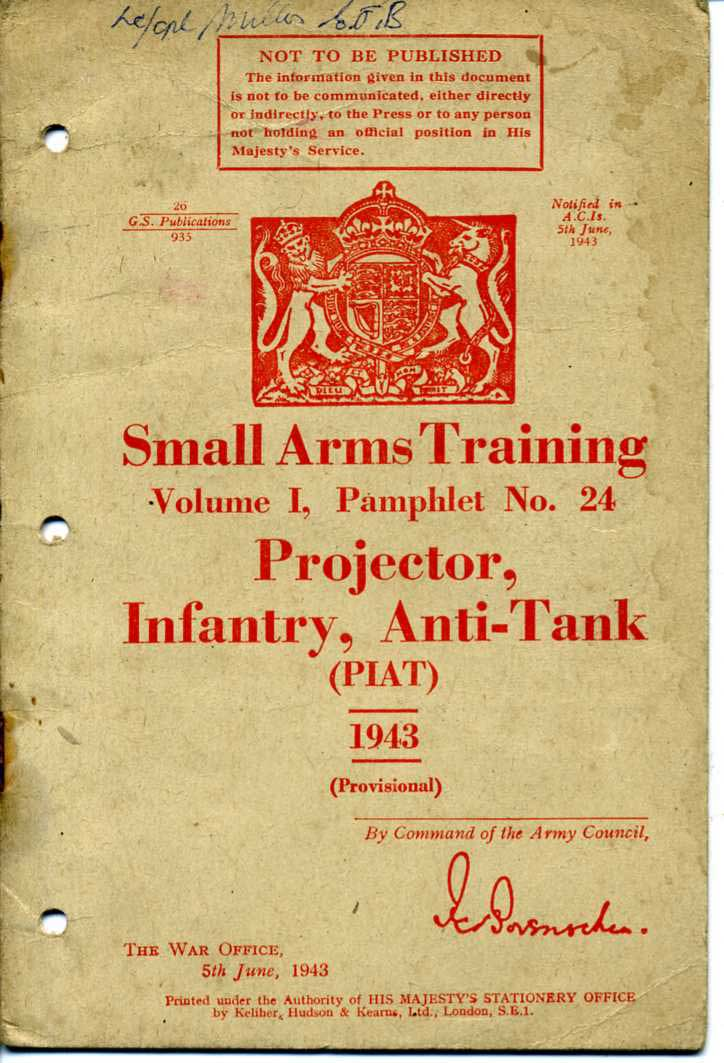 Small Arms Training Manuals and other Weapon manuals