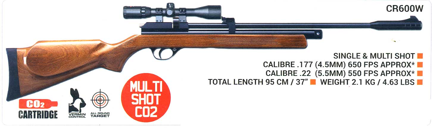 Smk Cr600w Co2 Air Rifle The Gunner