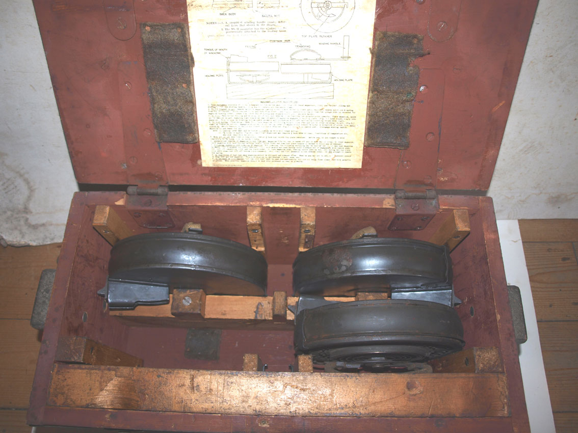 Bren 100 Round drum mags and box