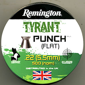 Remington Tyrant Punch .22 Flat Pellets £5.49