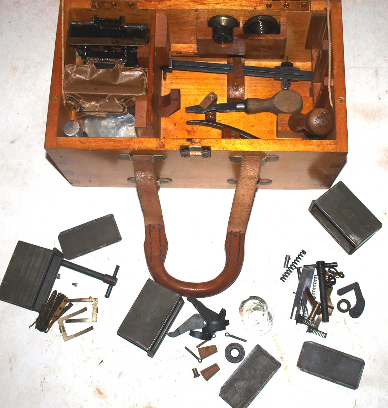 Vickers Platoon Spares and Tools Box with contents