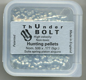 .177 Calibre ThUnderbolt hunting pellet (Spring guns only) pellet £9.95
