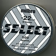 Milbro .22 Calibre domed Select pellet 7.50