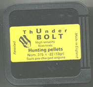 ThUnderBOLT .22 Calibre Pellet for PCP Air Weapons £9.95