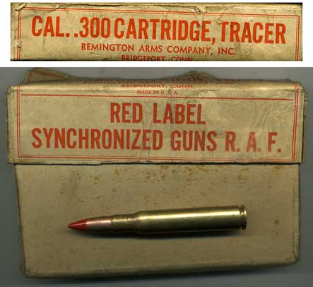Boxed .30-06 RAF Tracer 1941 dated inert ammo