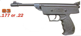 SMK S3 Air Pistol .177 & .22 £39.95