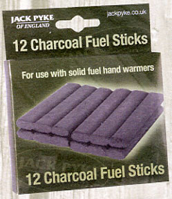 Handwarmer Charcoal Sticks x12