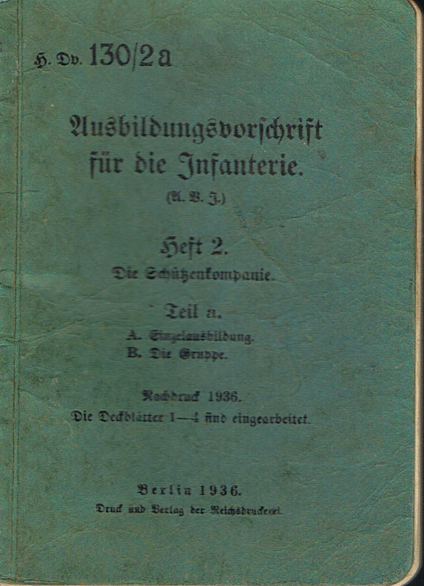 Rare German 1936 Infantry Weapons Manual