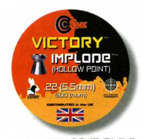 Victory Implode .22 Hollow Point pellet 6.99