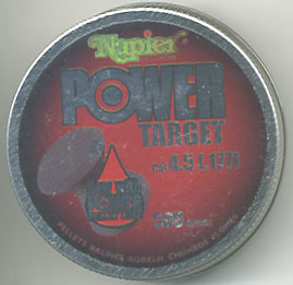 .177 Calibre Napier Power Target pellets £7.75