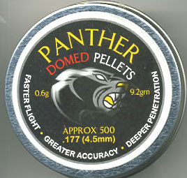 .177 Calibre Panther 9.2Gn domed pellets £4.99