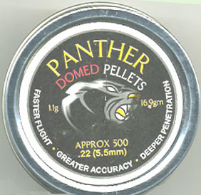 Panther .22 Calibre 16.9Gr Heavy Domed Hunting Pellet £11.99