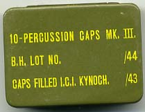 Percussion Caps Tin