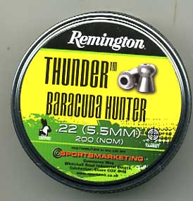 Remington .22 (5.5mm) Thunder Barracuda Hunter  £7.95