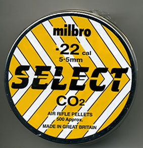 milbro .22 Calibre domed CO2 Select pellet Â5.99
