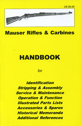 Skennerton Handbook for Mauser Rifles & Carbines